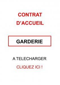 CONTRAT D'ACCUEIL GARDERIE